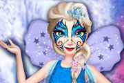 Elsa Face Tattoo