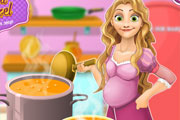 Pregnant Cooking Chicken Soup
